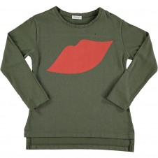 T-shirt Lips zielony